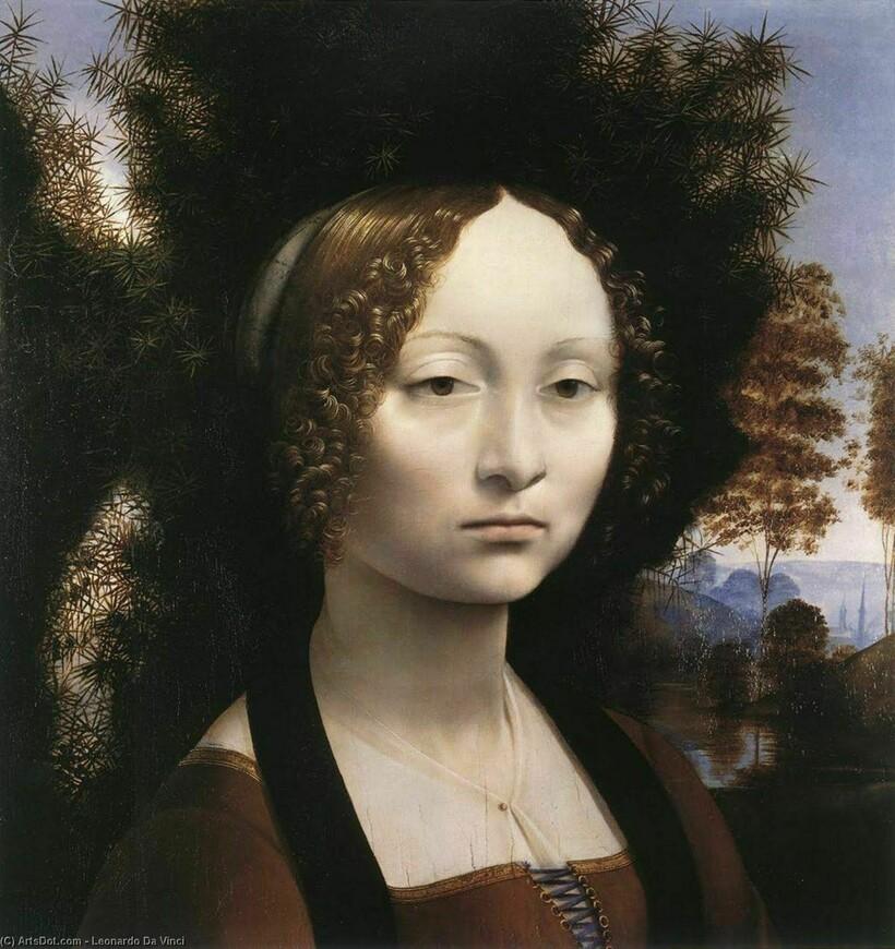 Портрет Джиневры де Бенчи, около 1474—1476 годов. Леонардо да Винчи