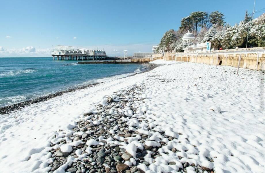 25 зимних пляжей будут работать в Сочи в сезоне 2021-2022
