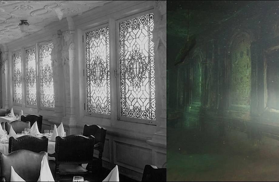 Фотографии «Титаника» до и после крушения