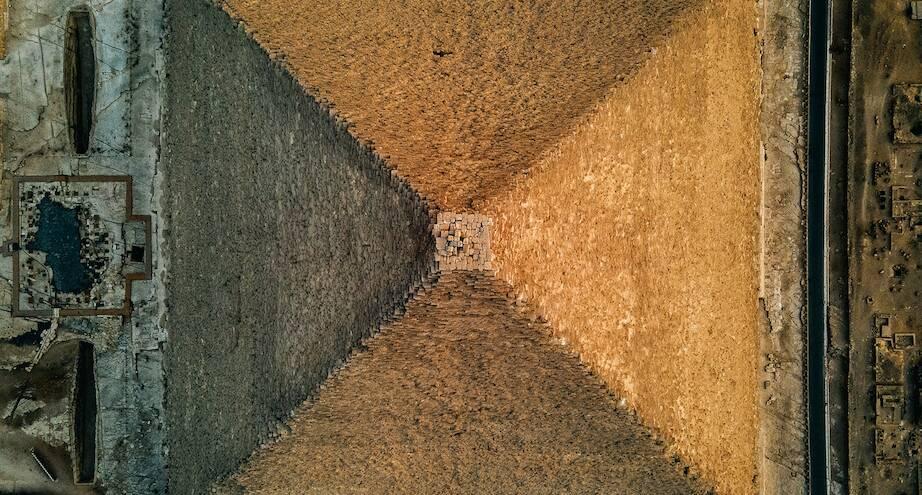 Фото дня: пирамида Гизы с высоты