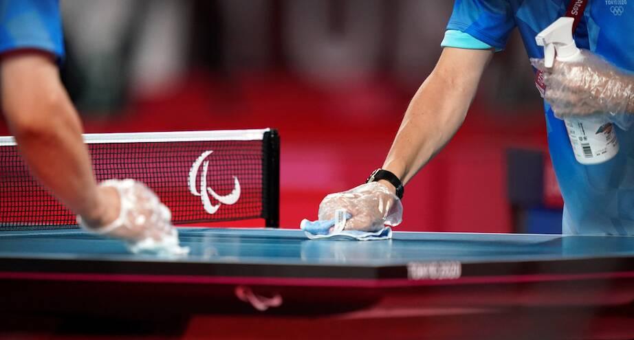 Фото дня: подготовка стола к соревнованиям