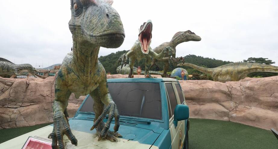 Фото дня: выставка динозавров в Южной Корее