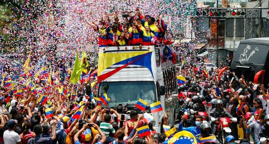 Фото дня: венесуэльцы приветствуют спортсменов Паралимпиады